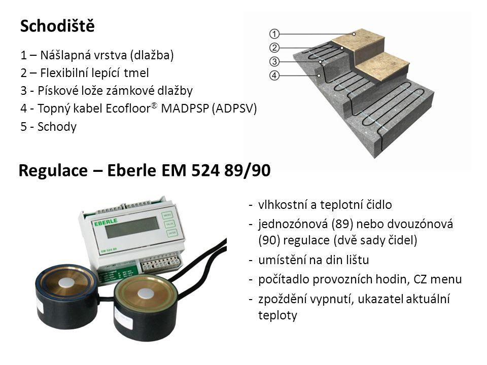 Schodiště Regulace – Eberle EM 524 89/90 1 – Nášlapná vrstva (dlažba)