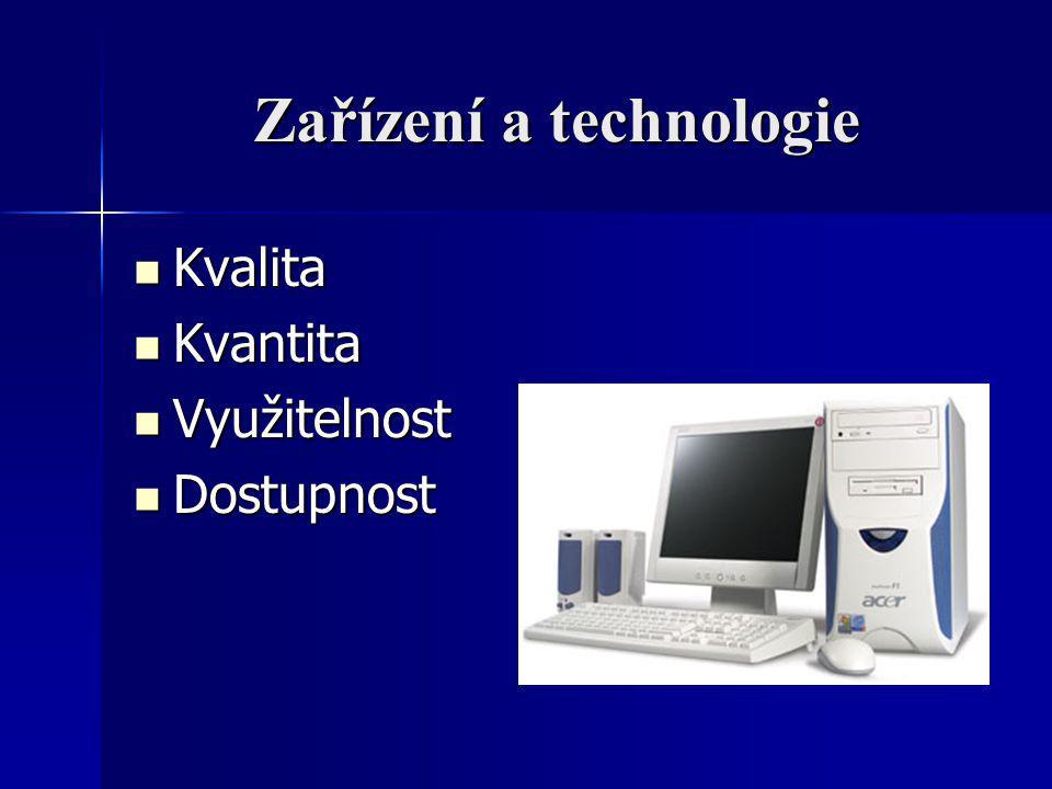 Zařízení a technologie
