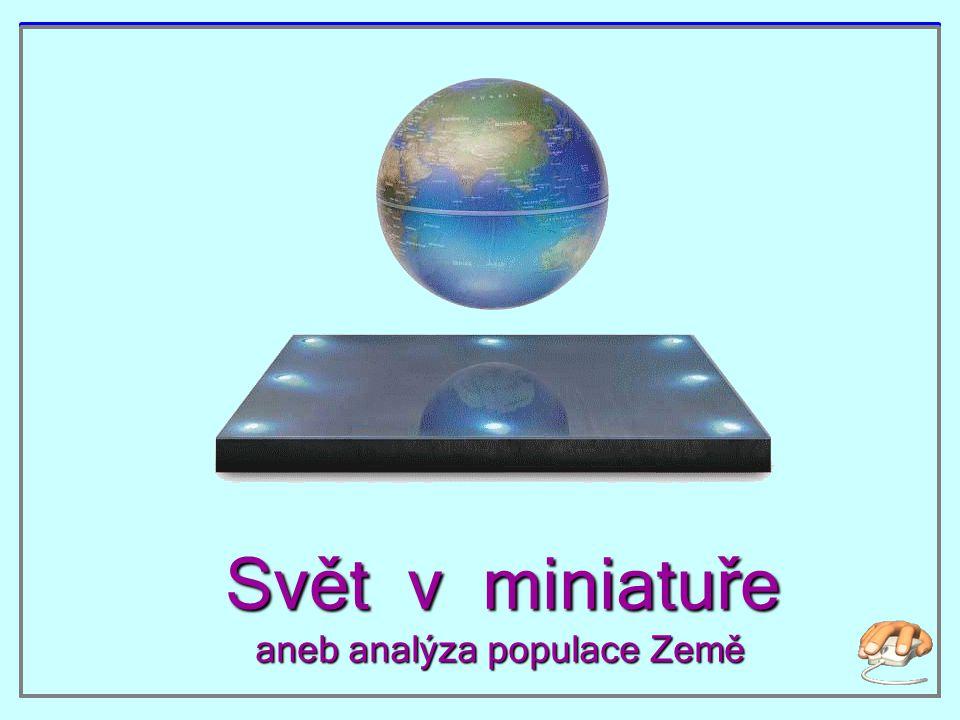 Svět v miniatuře aneb analýza populace Země