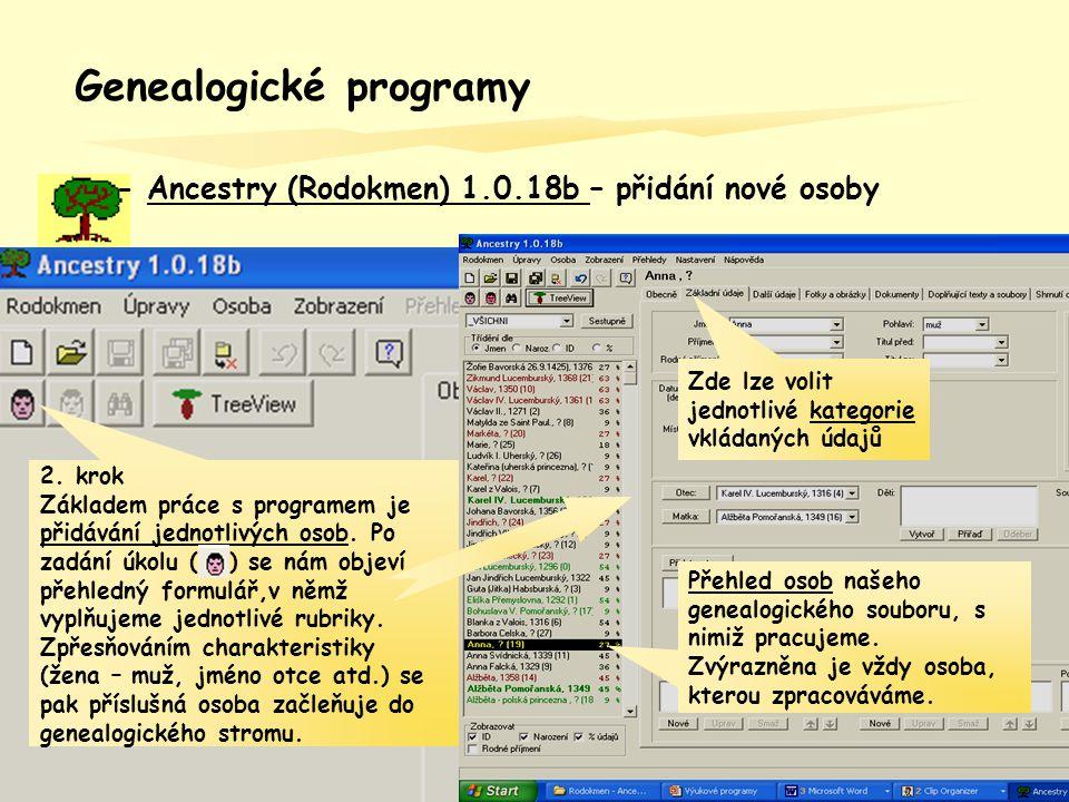 Genealogické programy