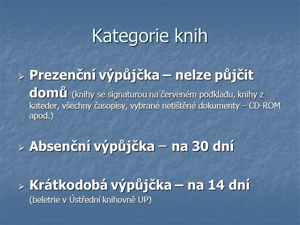 Kategorie knih