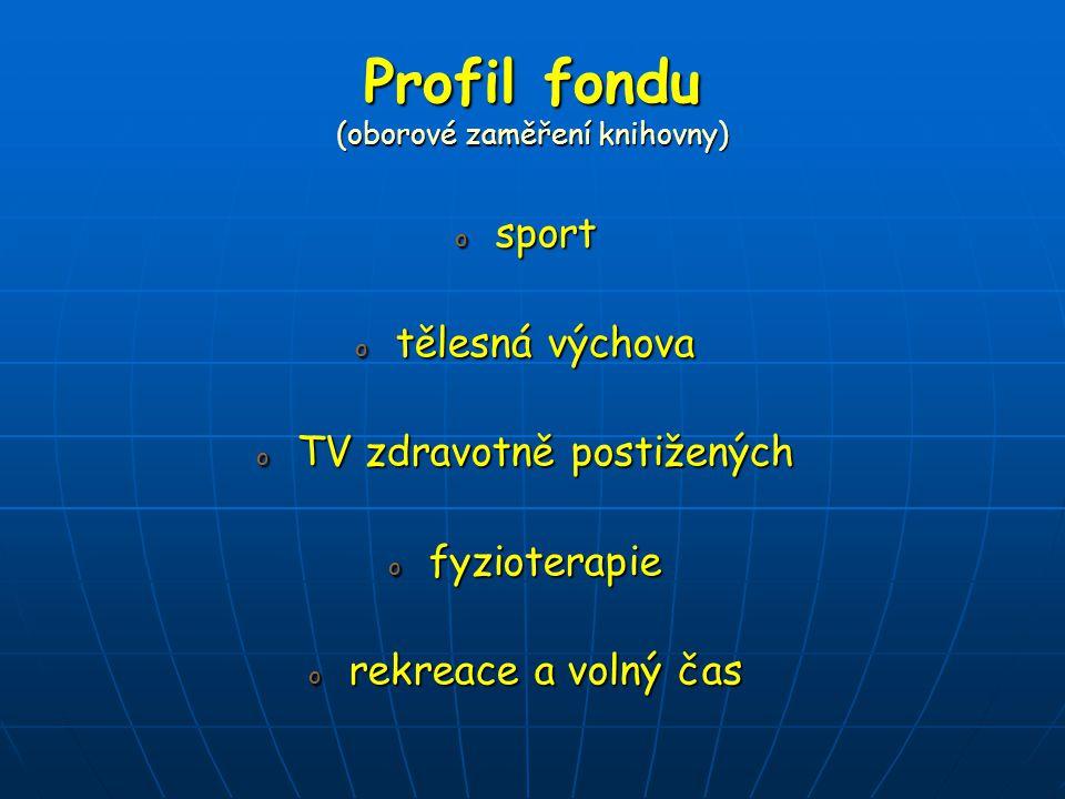 Profil fondu (oborové zaměření knihovny)