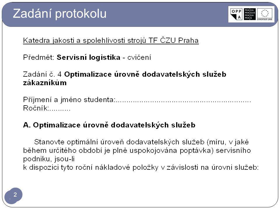 Zadání protokolu 2