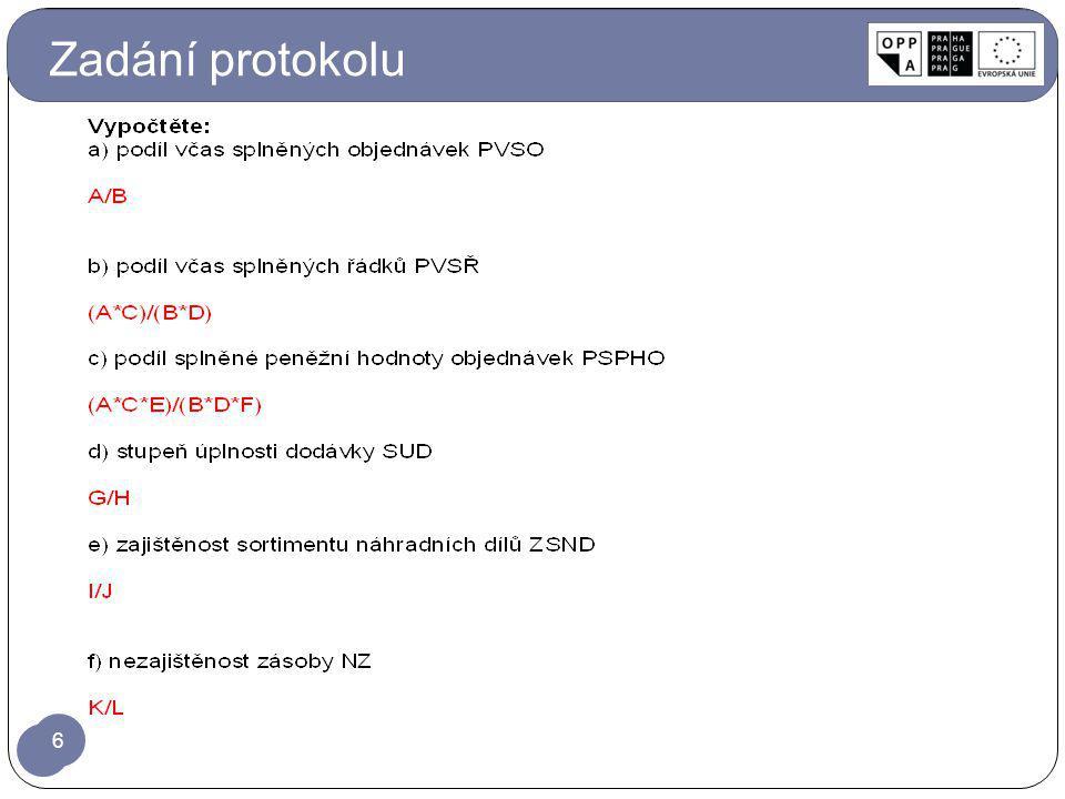 Zadání protokolu 6