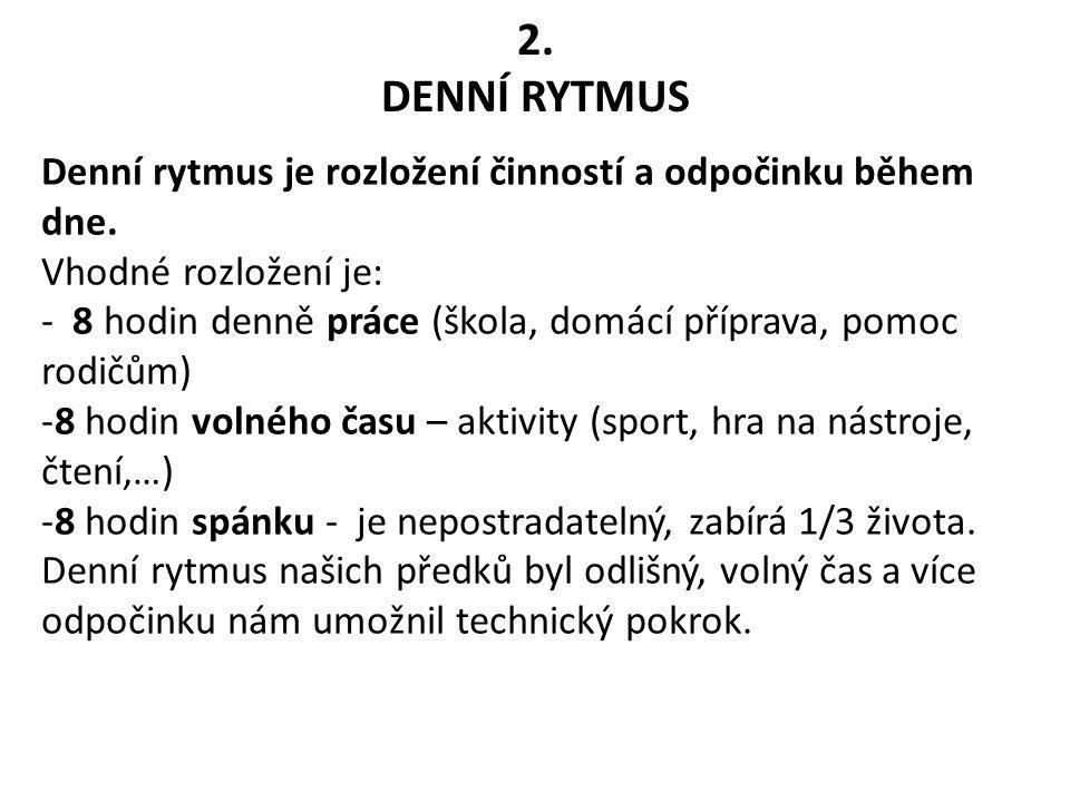 2. DENNÍ RYTMUS