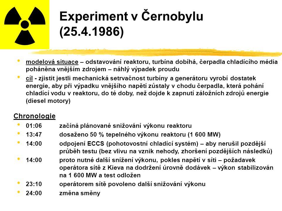 Experiment v Černobylu (25.4.1986)