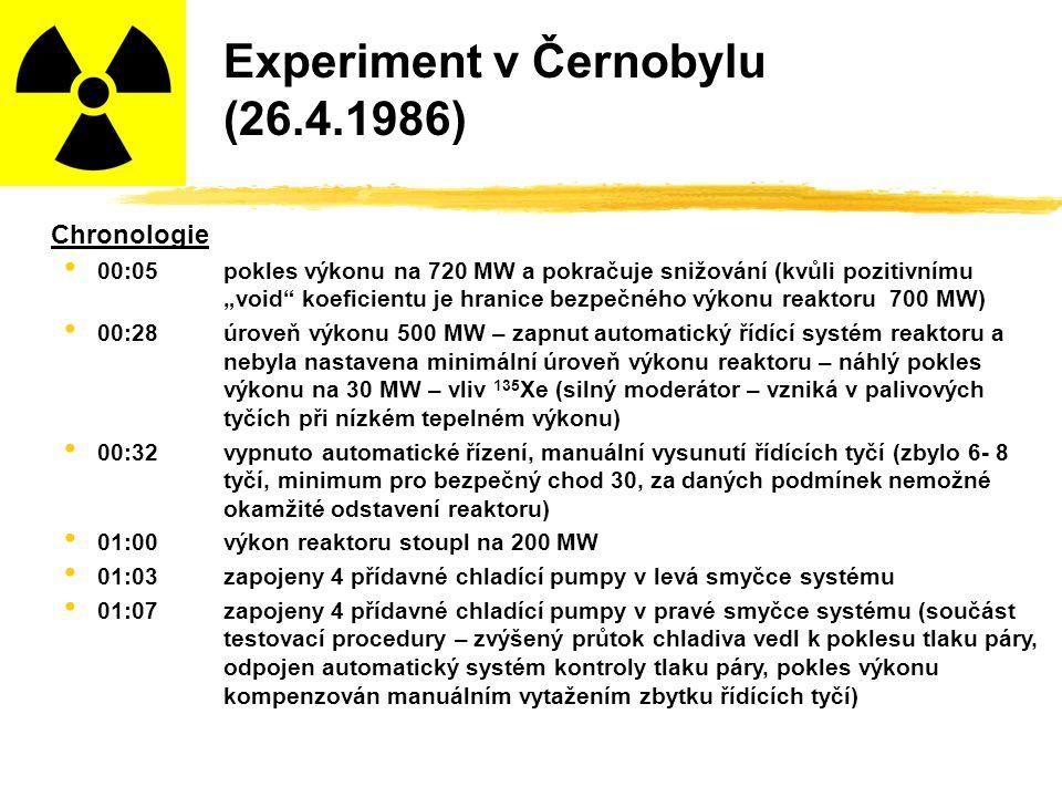 Experiment v Černobylu (26.4.1986)