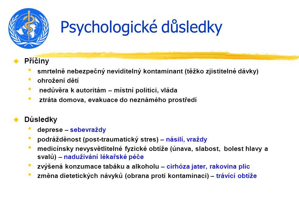 Psychologické důsledky