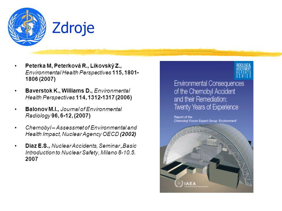 Zdroje Peterka M, Peterková R., Likovský Z., Environmental Health Perspectives 115, 1801-1806 (2007)