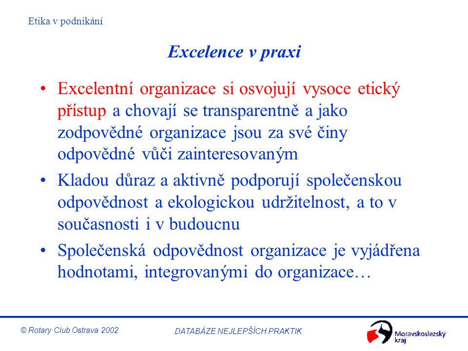 Excelence v praxi
