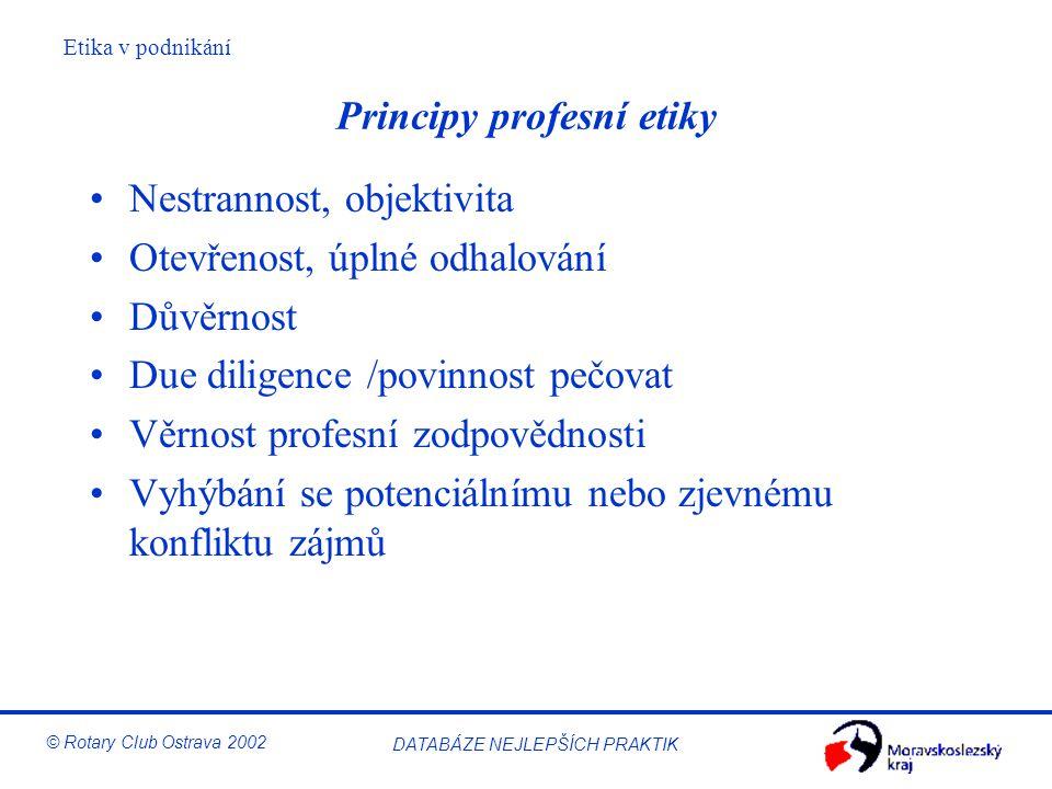 Principy profesní etiky