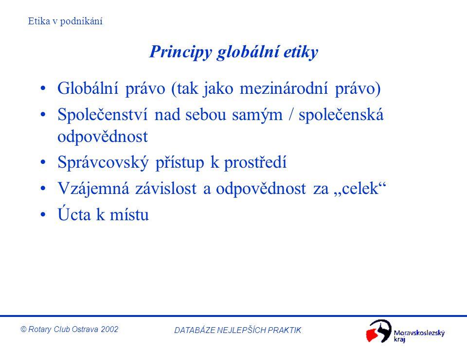 Principy globální etiky