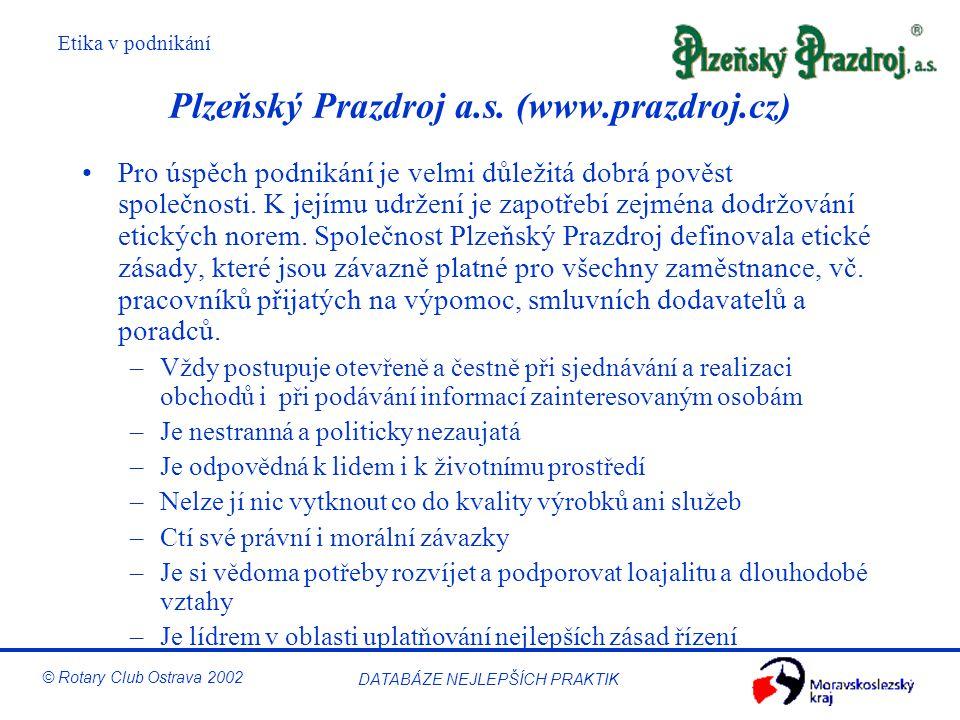 Plzeňský Prazdroj a.s. (www.prazdroj.cz)