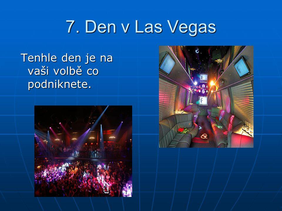 7. Den v Las Vegas Tenhle den je na vaši volbě co podniknete.
