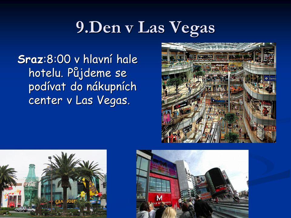 9.Den v Las Vegas Sraz:8:00 v hlavní hale hotelu.