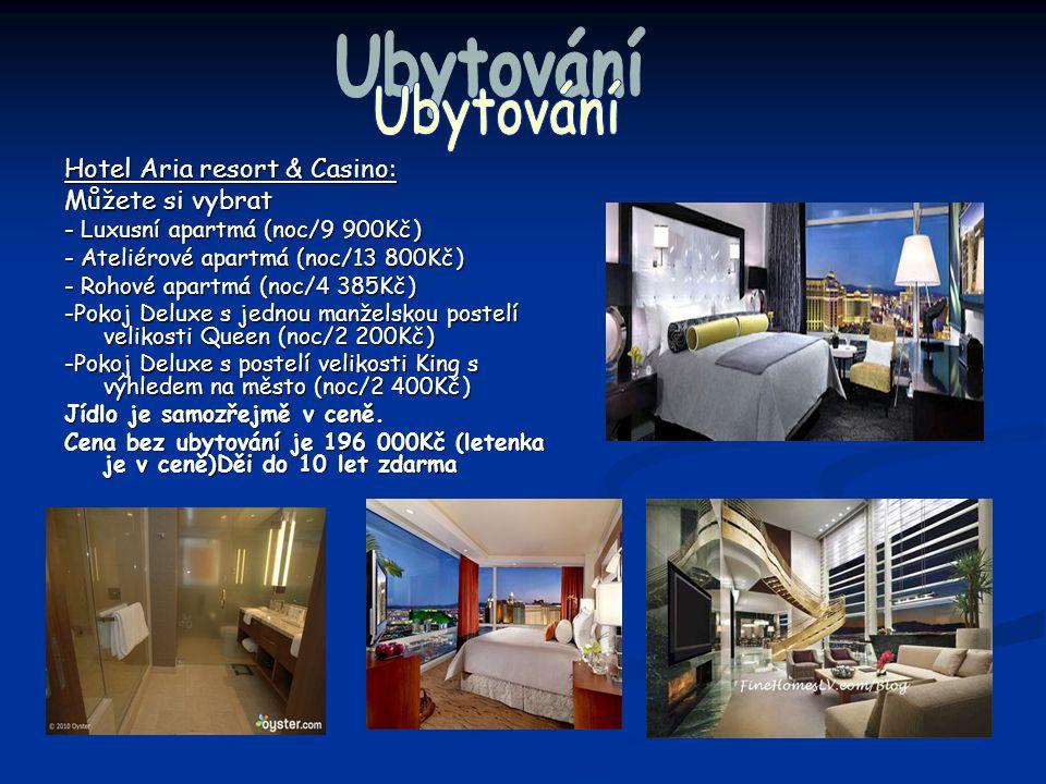 Ubytování Hotel Aria resort & Casino: Můžete si vybrat