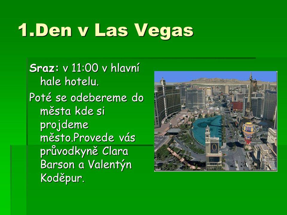 1.Den v Las Vegas Sraz: v 11:00 v hlavní hale hotelu.