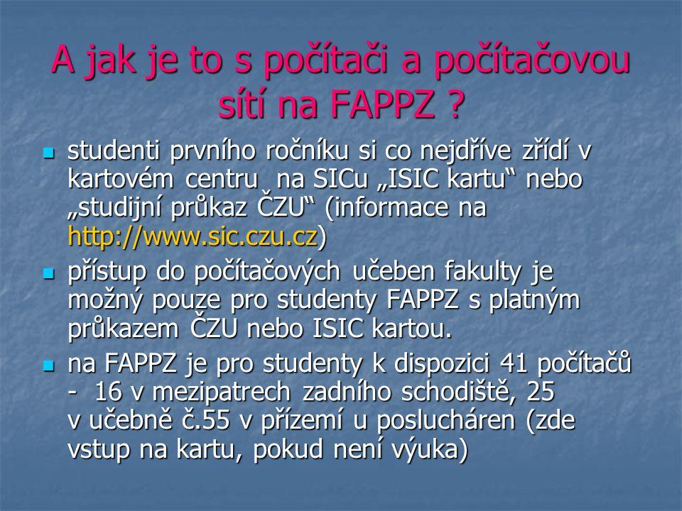 A jak je to s počítači a počítačovou sítí na FAPPZ