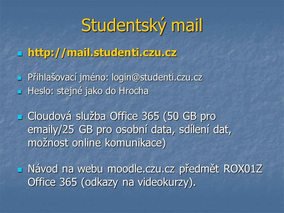 Studentský mail http://mail.studenti.czu.cz