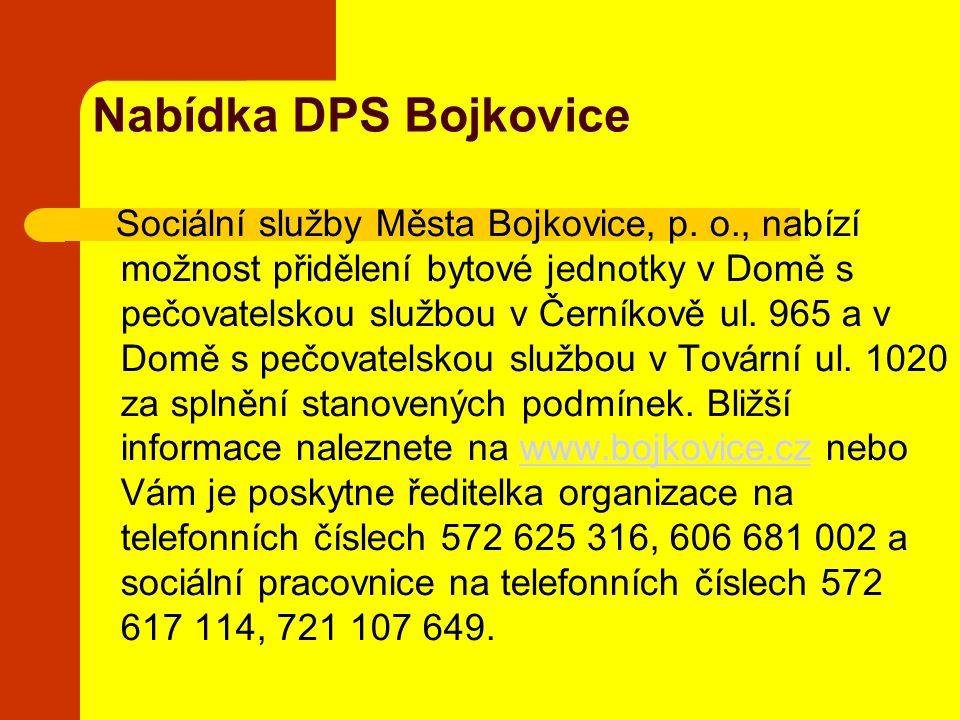 Nabídka DPS Bojkovice