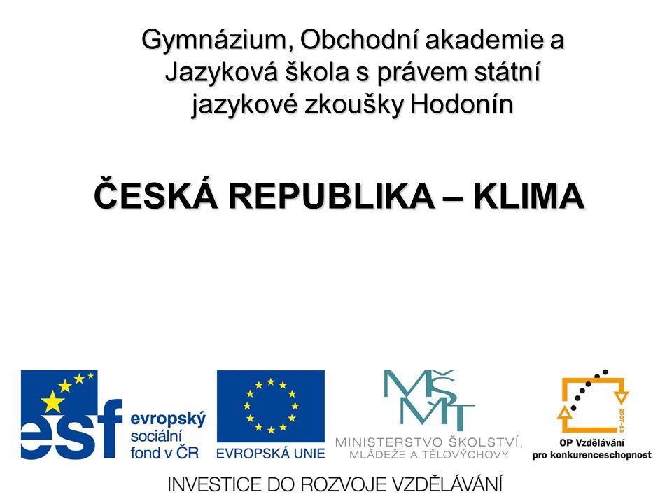 ČESKÁ REPUBLIKA – KLIMA