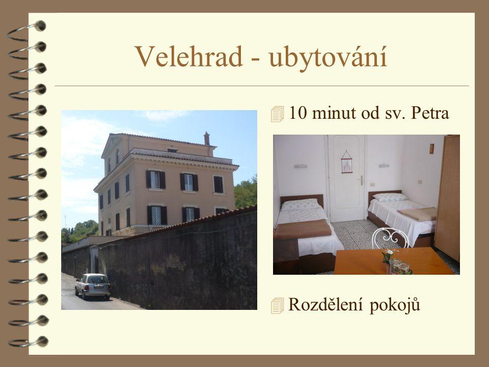 Velehrad - ubytování 10 minut od sv. Petra Rozdělení pokojů