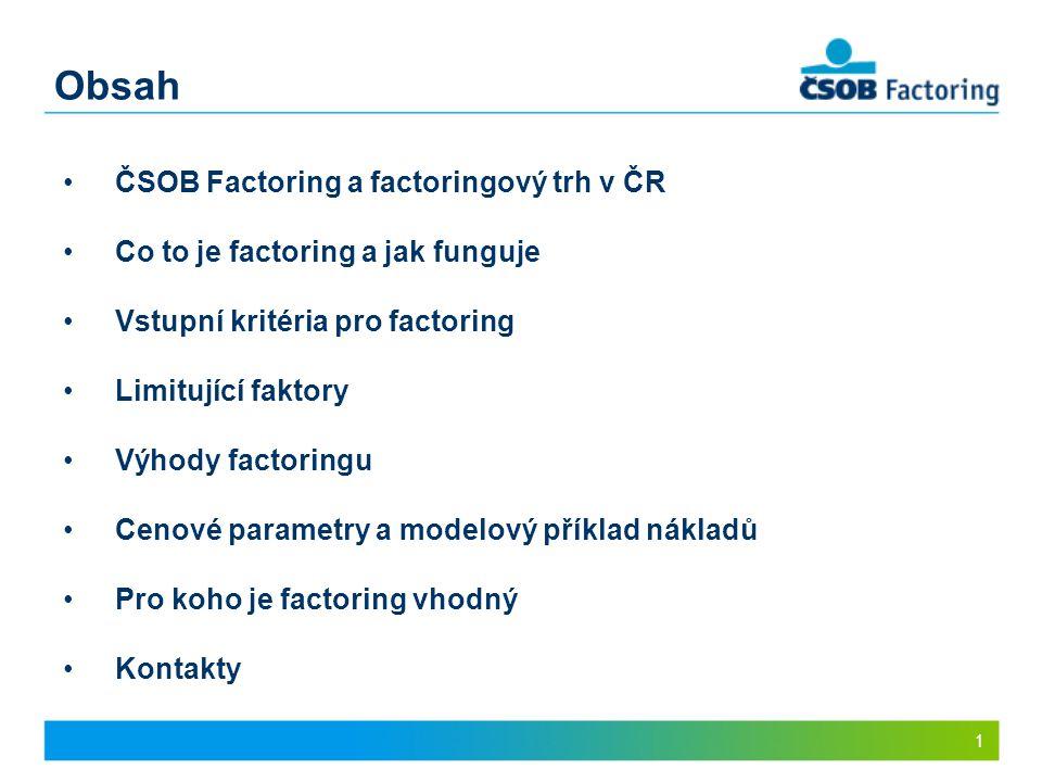 Obsah ČSOB Factoring a factoringový trh v ČR