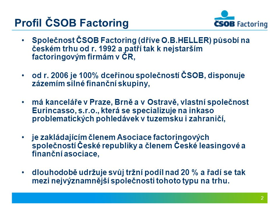 Profil ČSOB Factoring