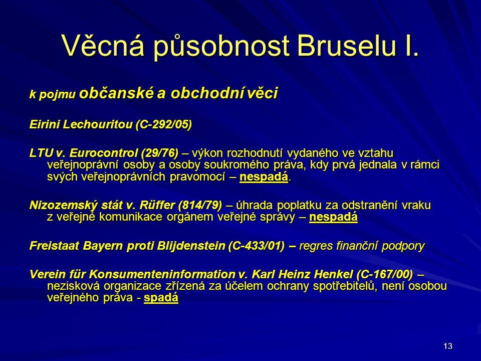 Věcná působnost Bruselu I.