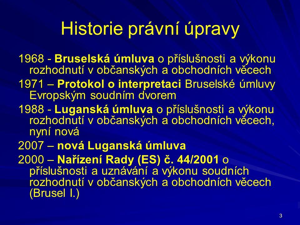 Historie právní úpravy