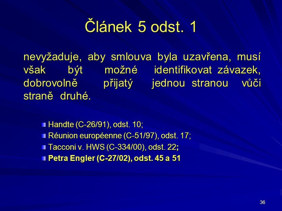Článek 5 odst. 1