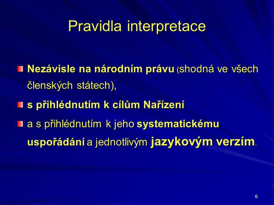 Pravidla interpretace