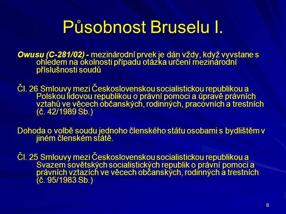 Působnost Bruselu I.