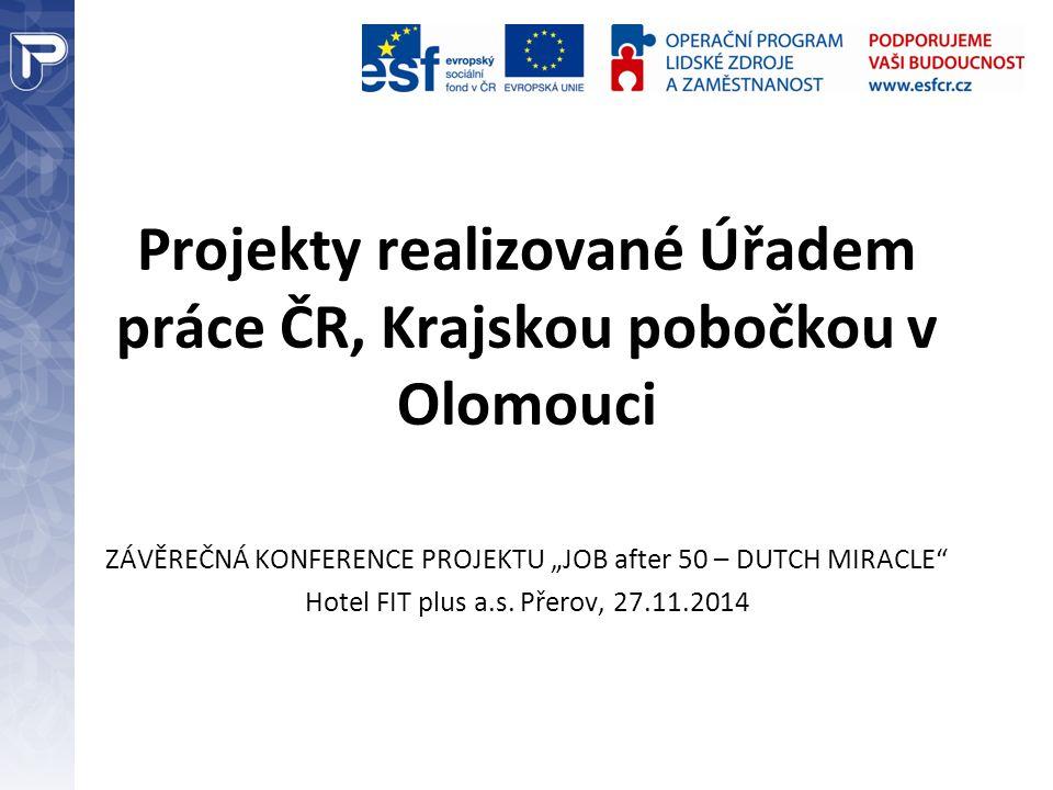 Projekty realizované Úřadem práce ČR, Krajskou pobočkou v Olomouci