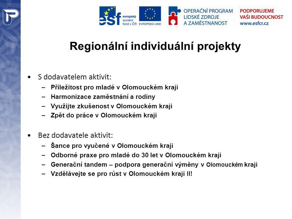 Regionální individuální projekty