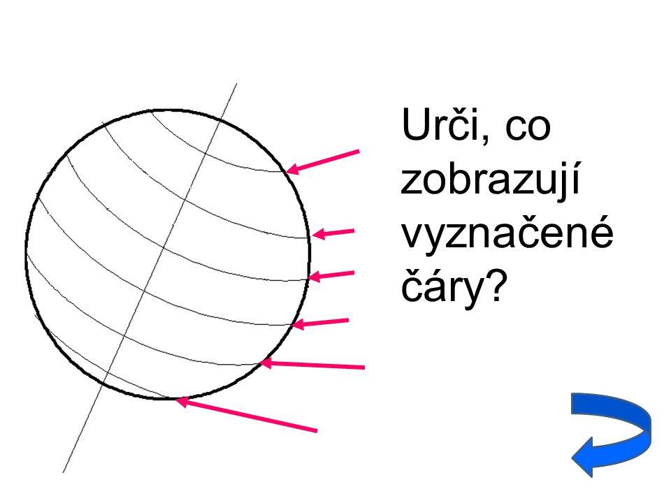 Urči, co zobrazují vyznačené čáry