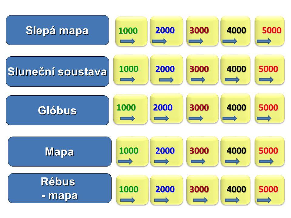 Slepá mapa Sluneční soustava Glóbus Mapa Rébus - mapa