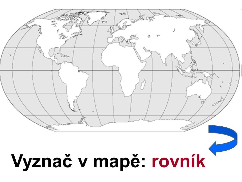 Vyznač v mapě: rovník