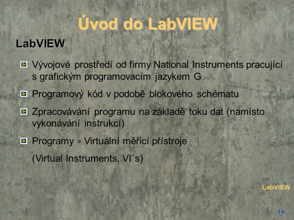 Úvod do LabVIEW LabVIEW