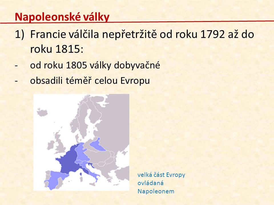 Francie válčila nepřetržitě od roku 1792 až do roku 1815: