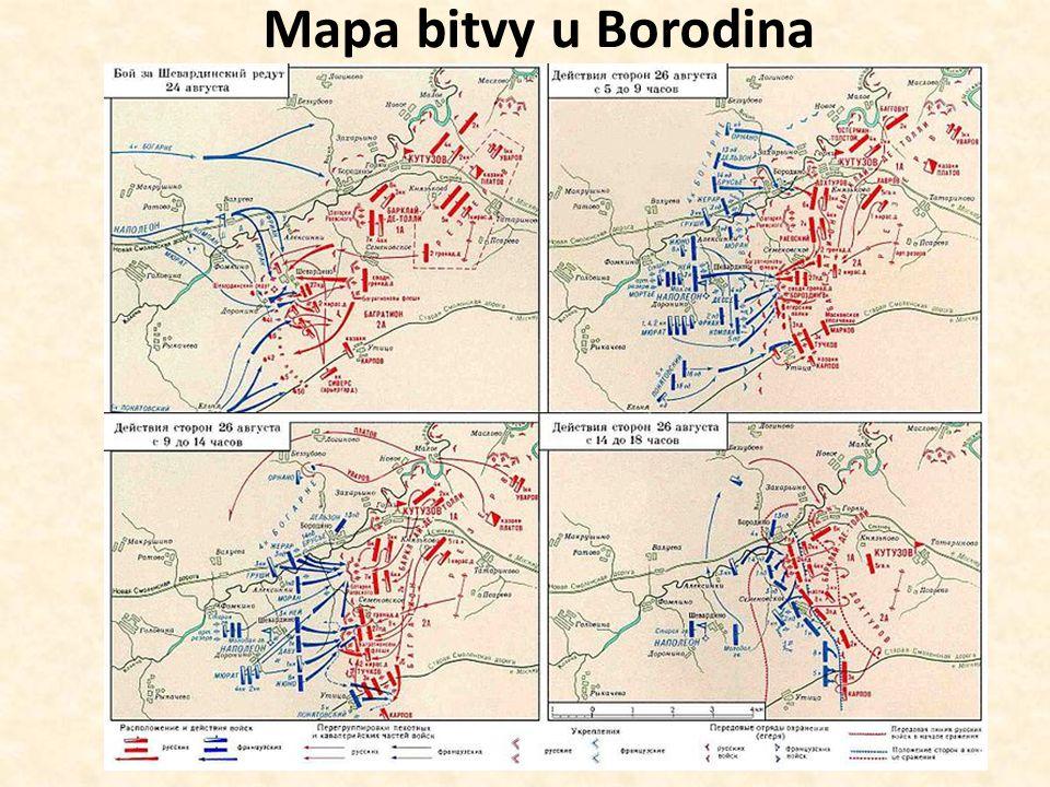 Mapa bitvy u Borodina