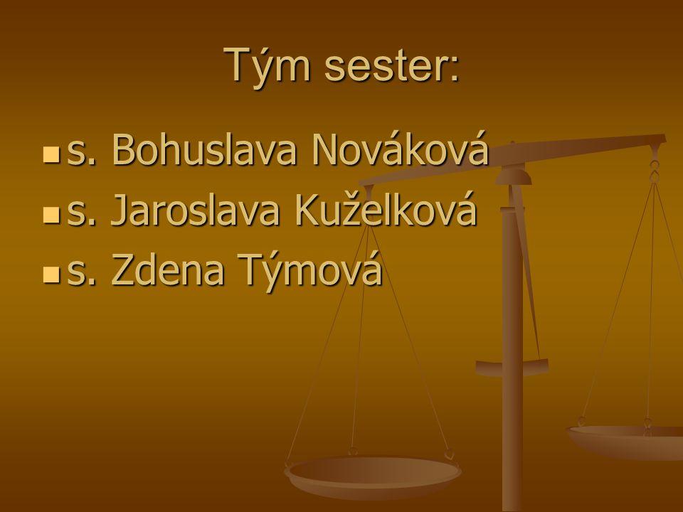 Tým sester: s. Bohuslava Nováková s. Jaroslava Kuželková