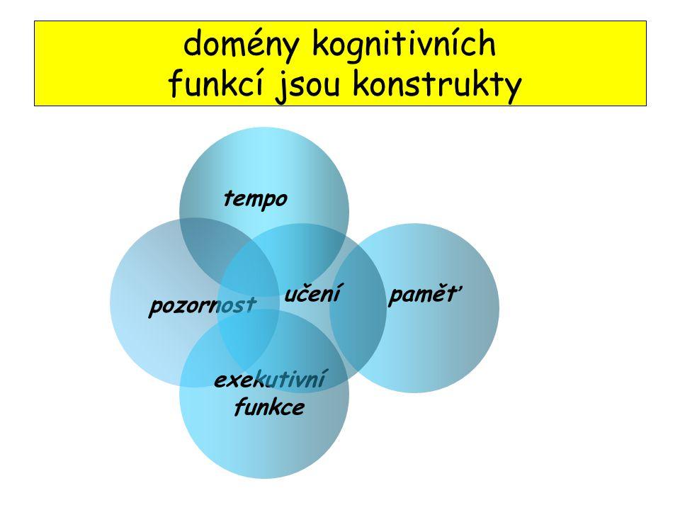 domény kognitivních funkcí jsou konstrukty
