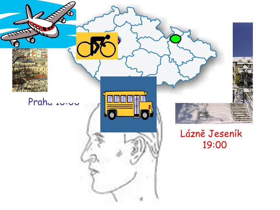 Praha 10:00 Lázně Jeseník 19:00
