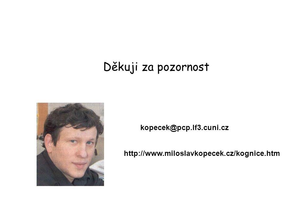 Děkuji za pozornost kopecek@pcp.lf3.cuni.cz