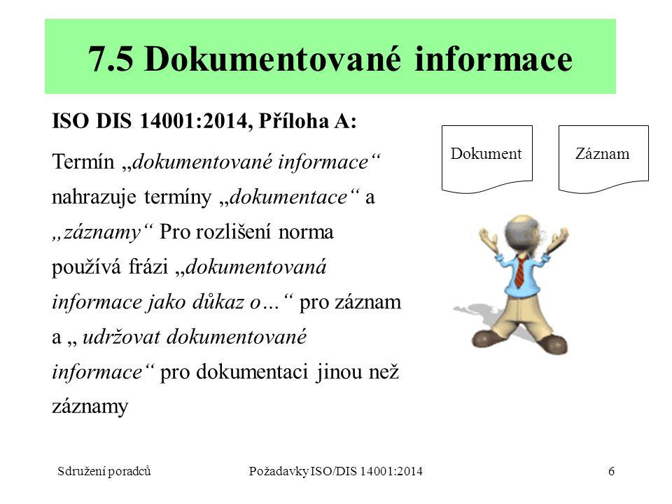 7.5 Dokumentované informace
