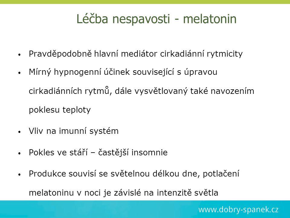 Léčba nespavosti - melatonin