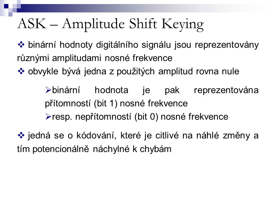 ASK – Amplitude Shift Keying