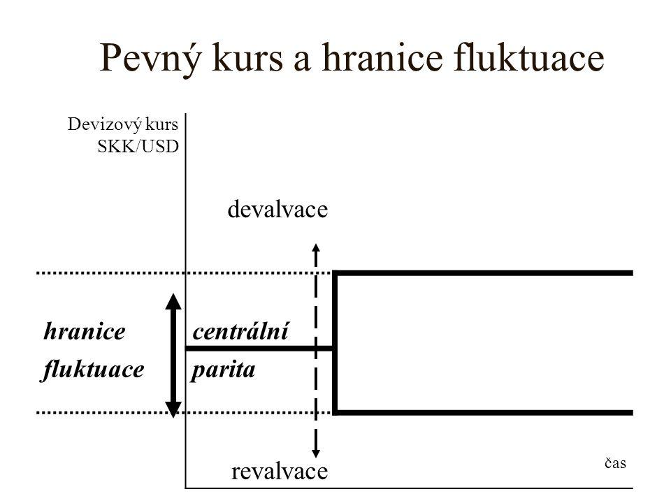 Pevný kurs a hranice fluktuace