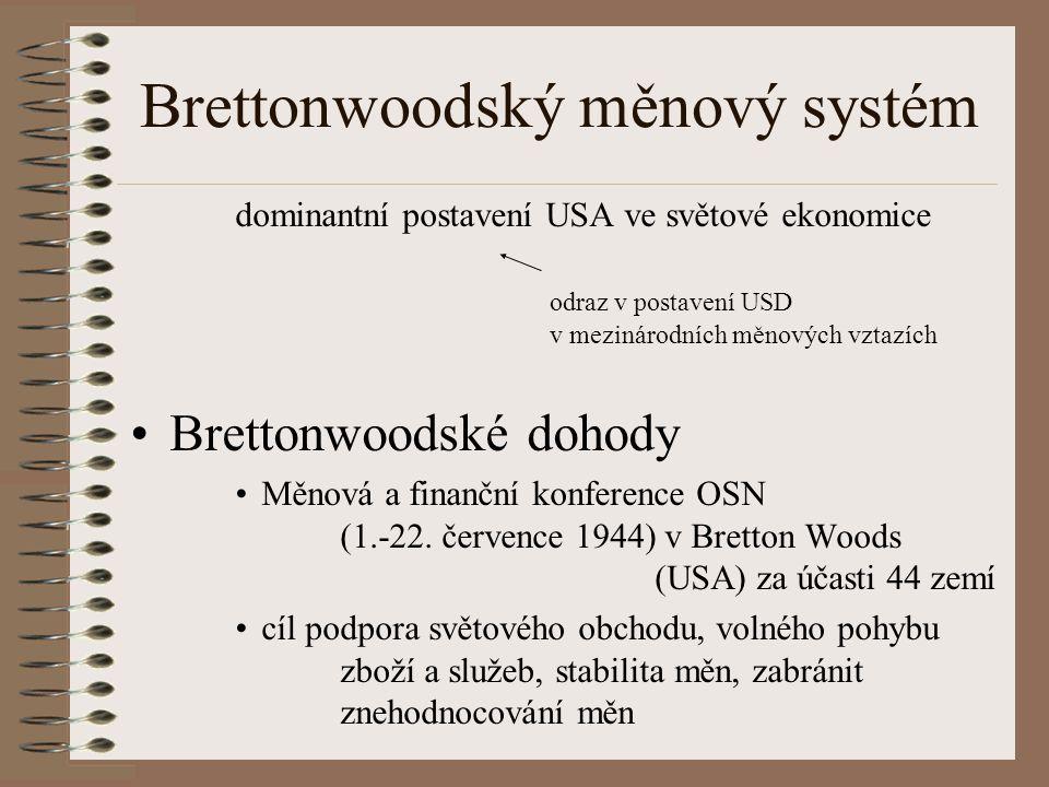 Brettonwoodský měnový systém